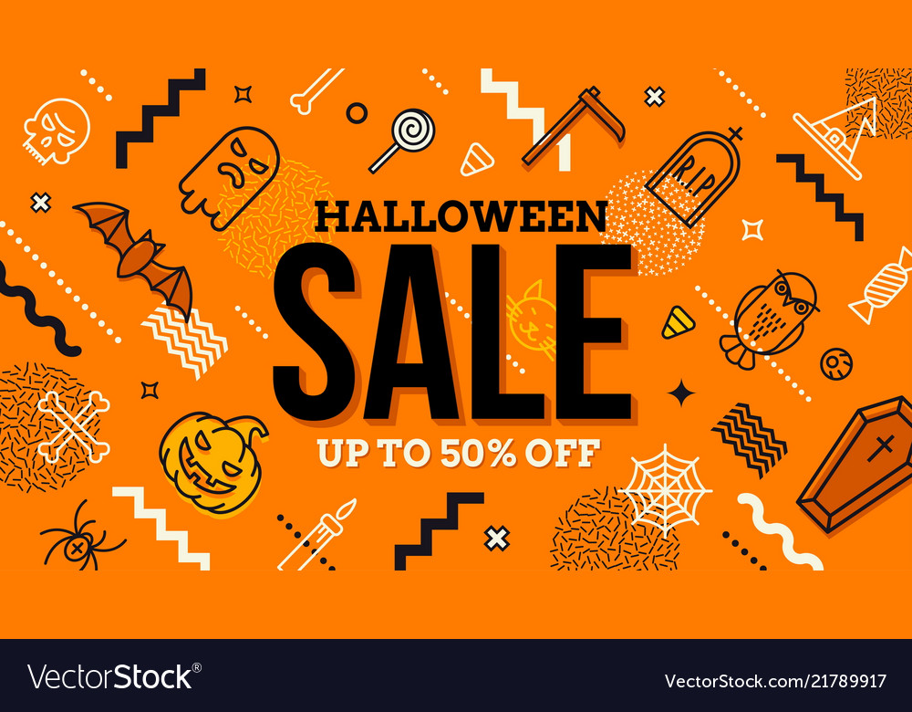 Amazing Halloween Sale Banner Vector Image