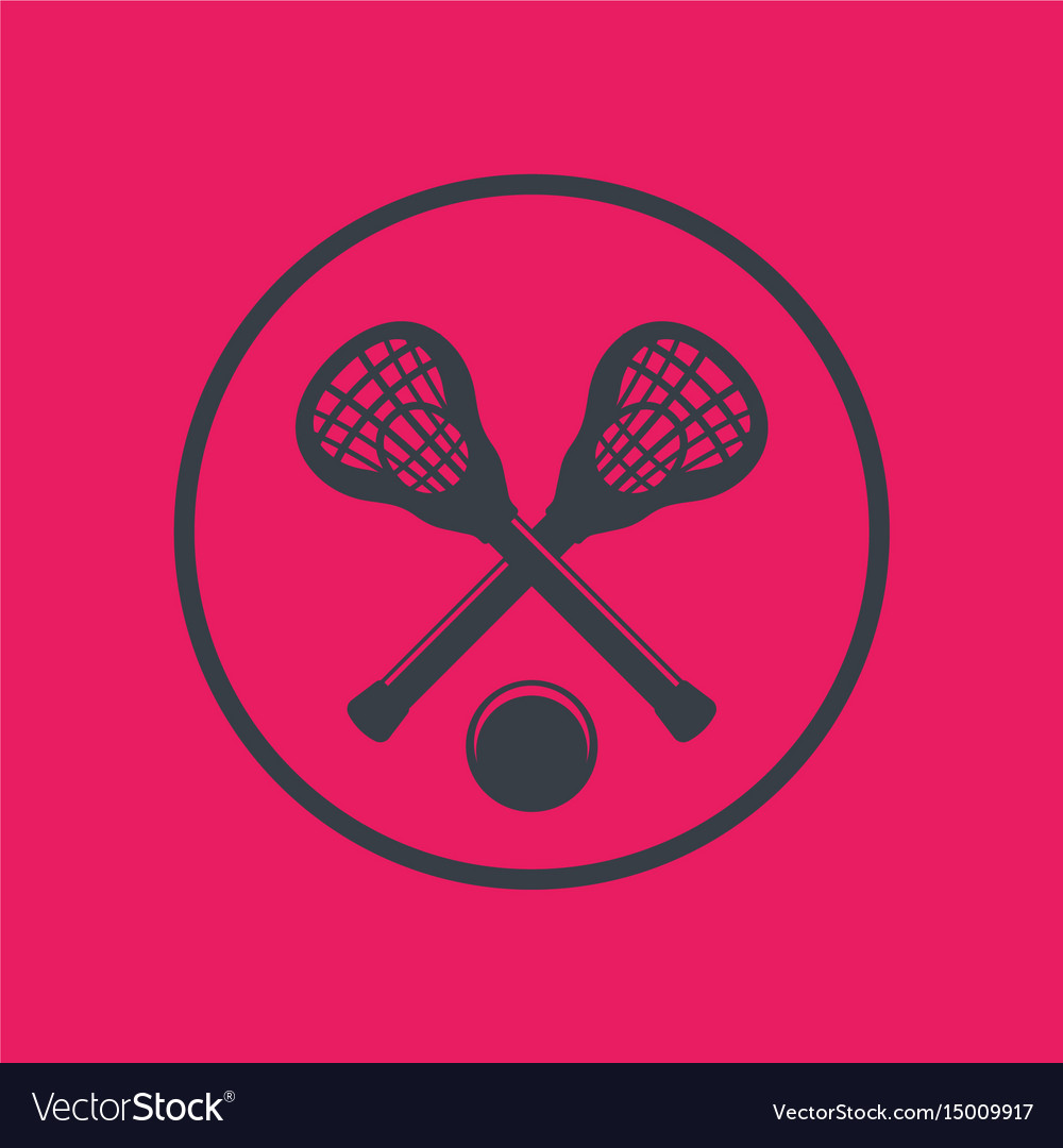 Lacrosse icon in circle