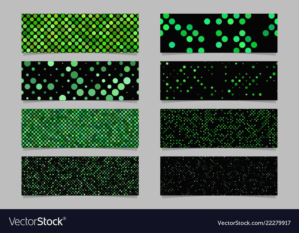 Modern abstract green dot pattern banner