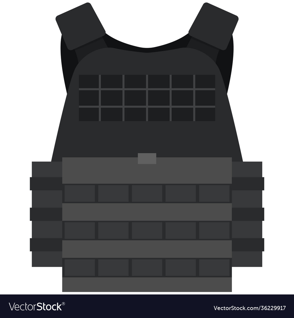 Police bulletprovest isolated on white