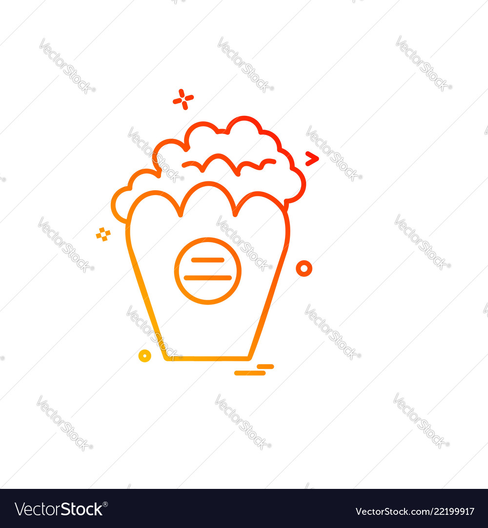 Popcorn icon design