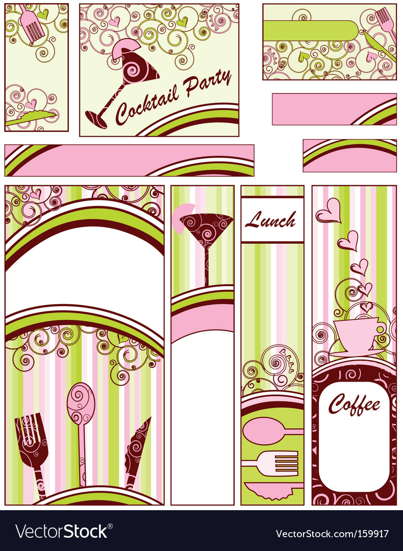 Set of food banners vector image