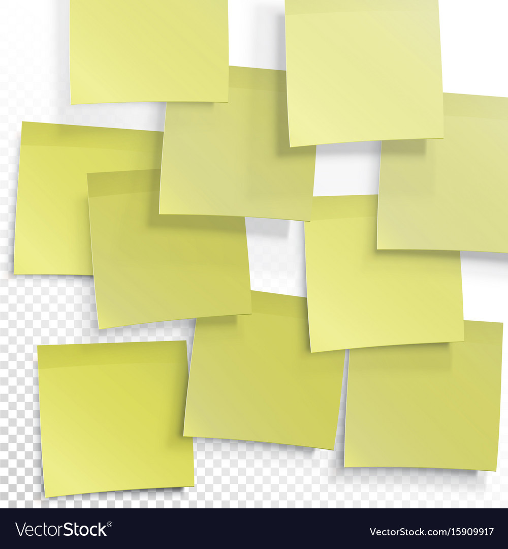 photo regarding Editable Post It Note Template named Yellow sticky notes editable template upon