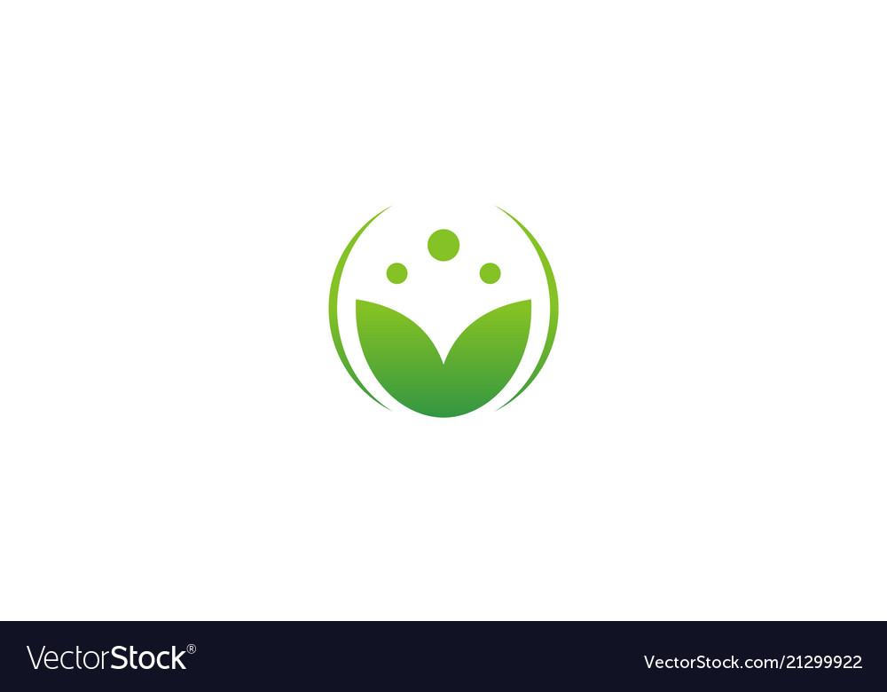 Abstract leaf beauty spa logo