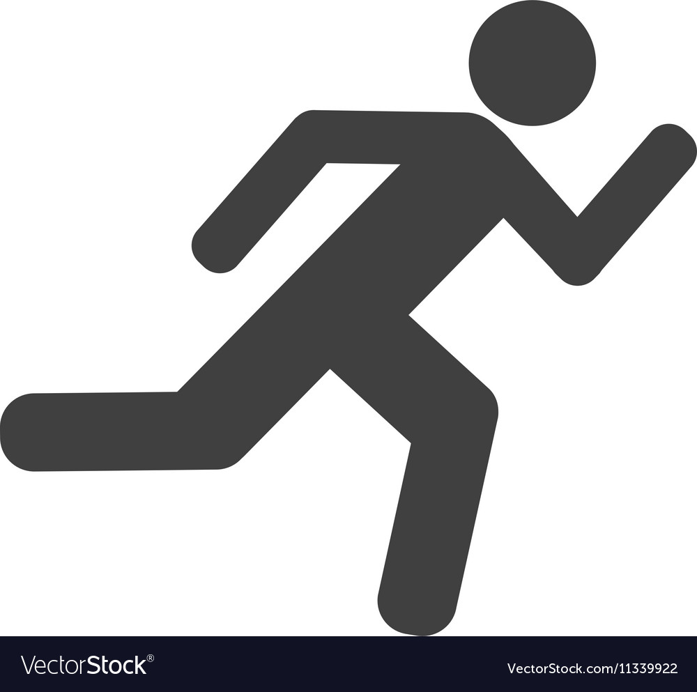 Athlete running silhouette isolated icon