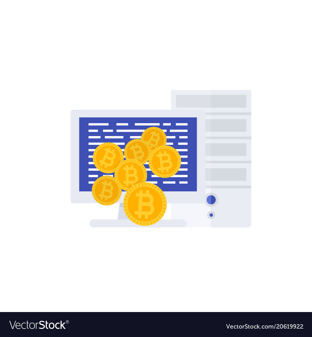 Bitcoin mining with computer