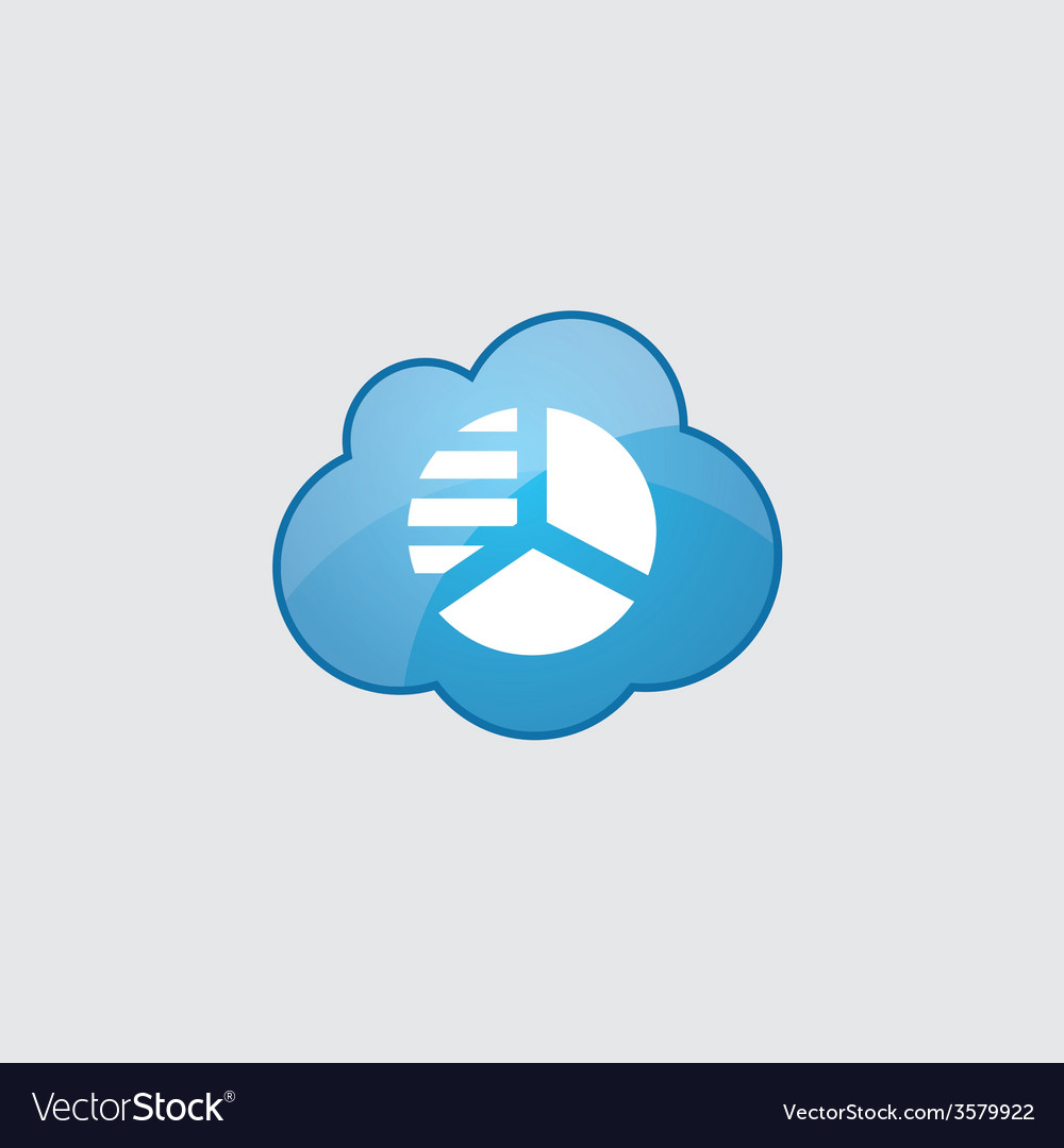 Blue cloud circle diagram icon royalty free vector image blue cloud circle diagram icon vector image ccuart Images