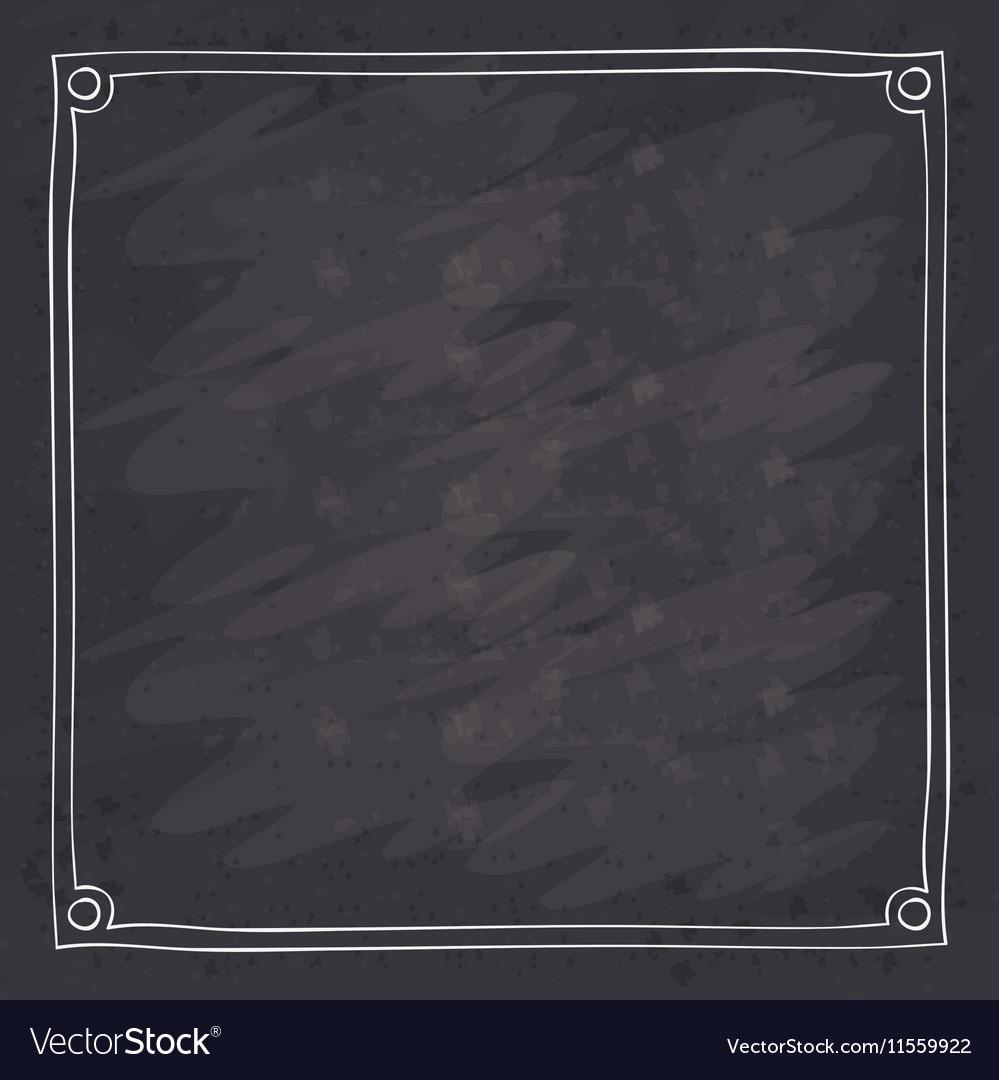 Frame over grunge background vector image