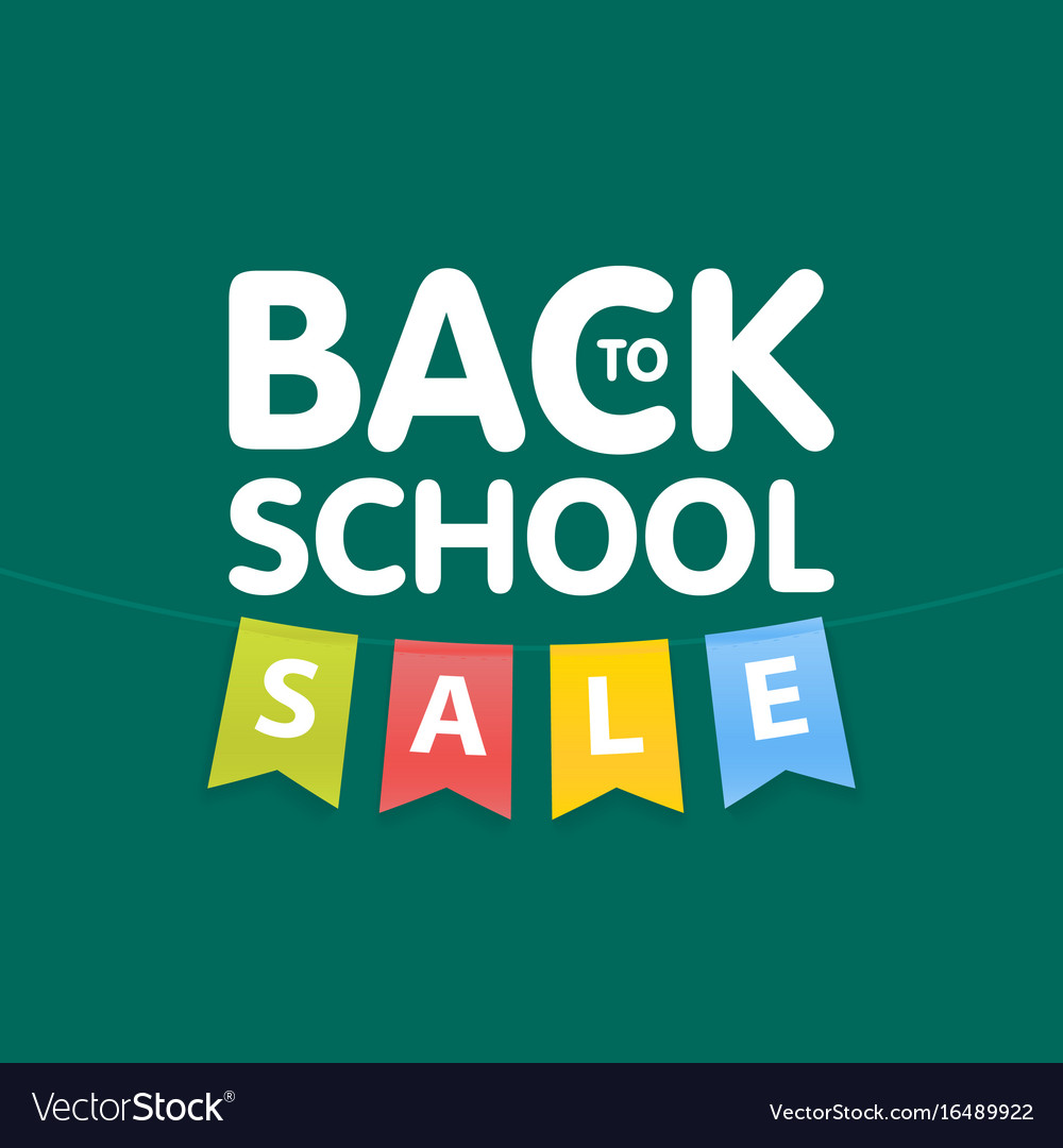 1518547e27 Modern back to school sale poster template with Vector Image