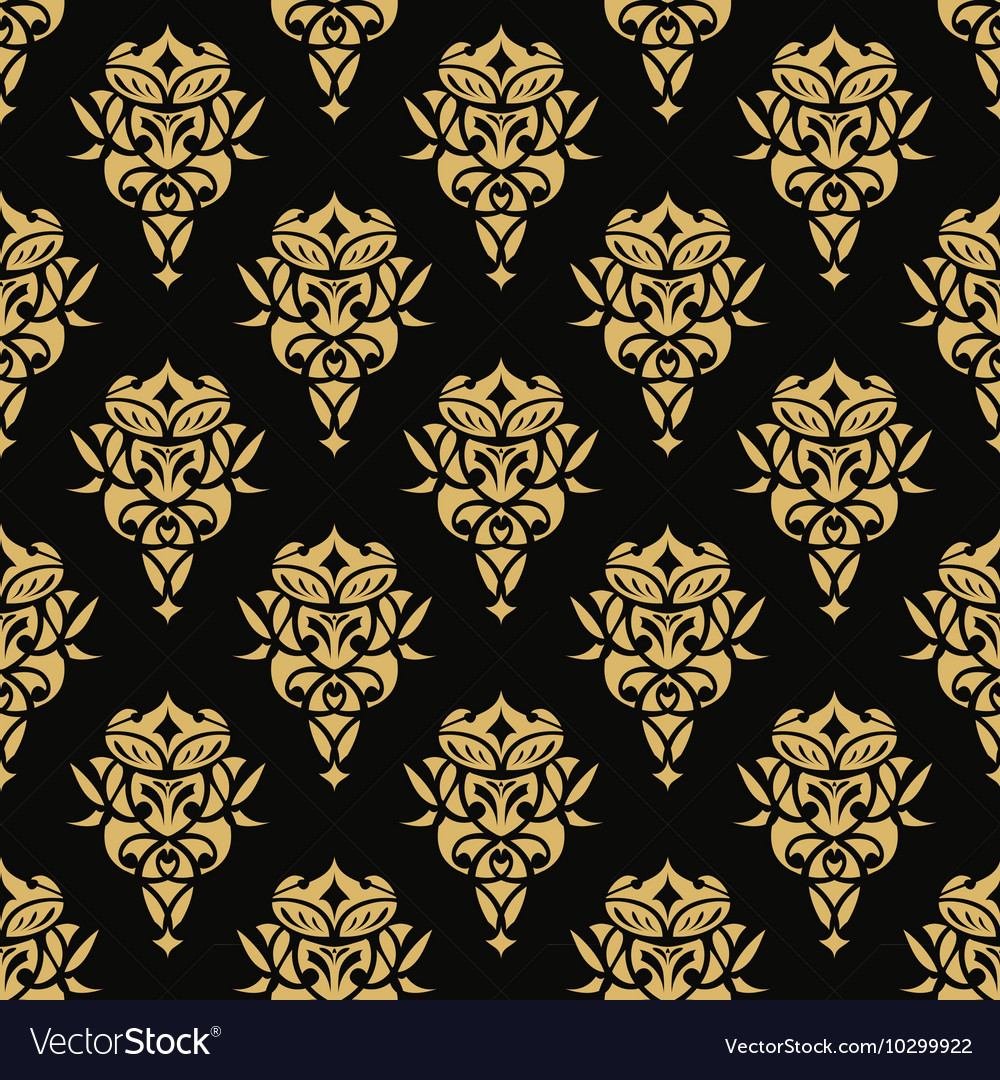 Royal wallpaper seamless floral pattern Luxury vector image