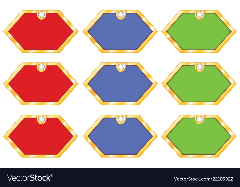 Set Sticker Frames Royalty Free Vector