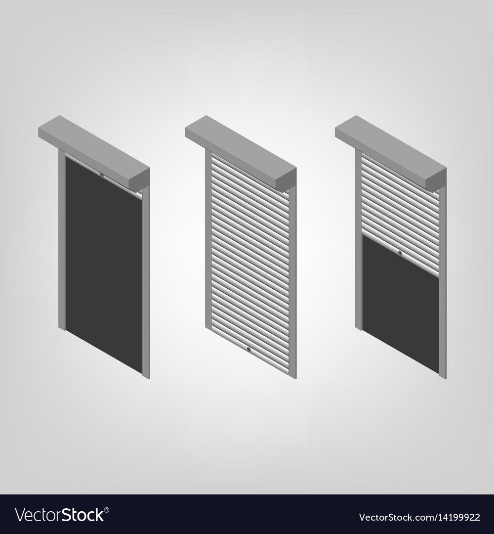 Steel Security Shutters Isometric