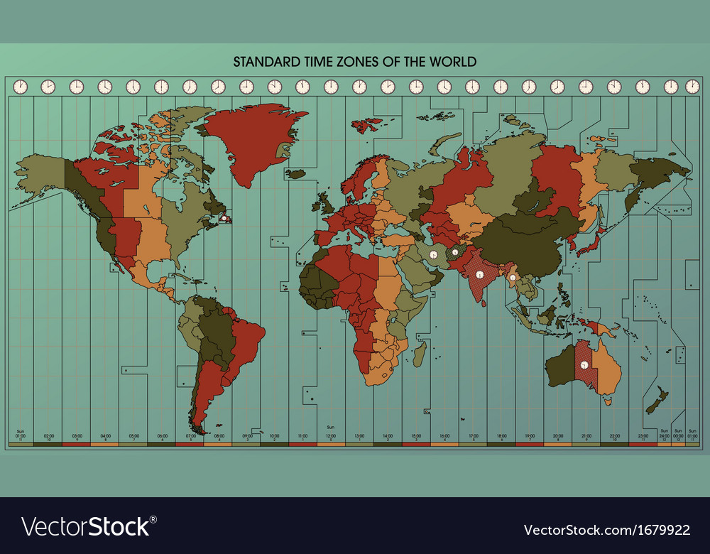 World map time zones 2