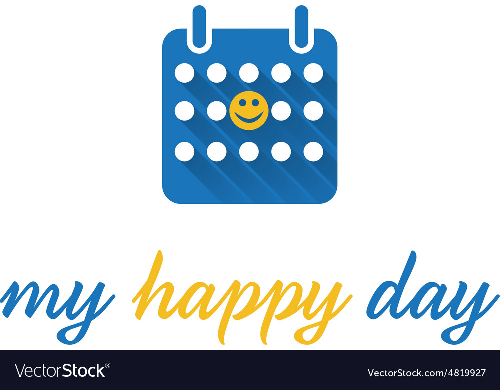 Abstract icon of calendar vector image
