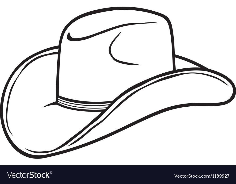 19c8ac8068a Cowboy hat Royalty Free Vector Image - VectorStock