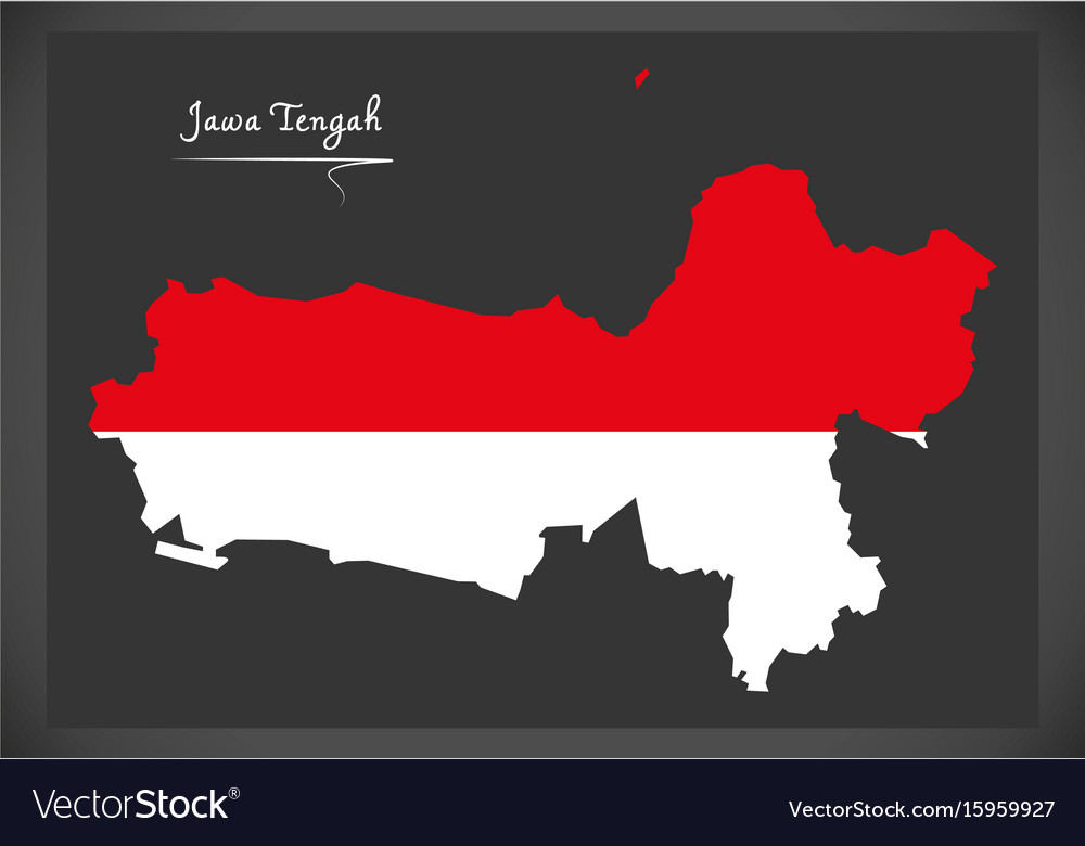 Jawa tengah indonesia map with indonesian vector