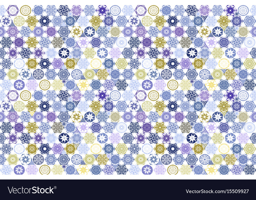 Seamless patchwork tile with victorian motives in