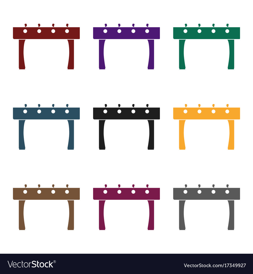 Table football icon in black style isolated on