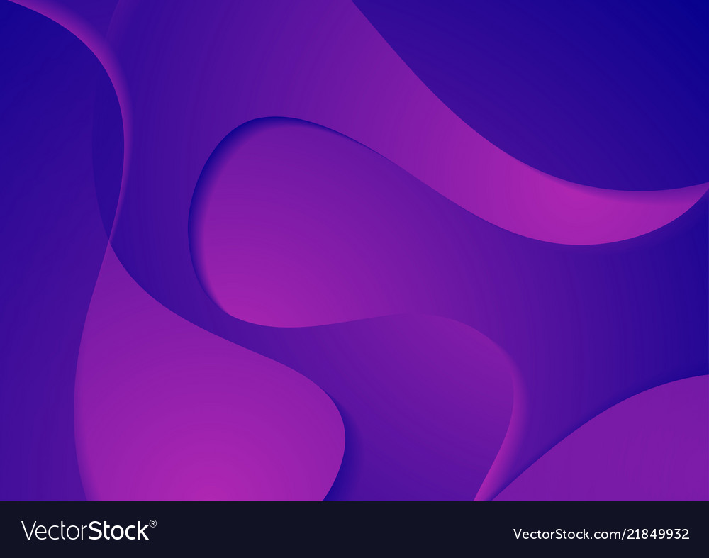 Abstract Blue Violet Corporate Waves Background