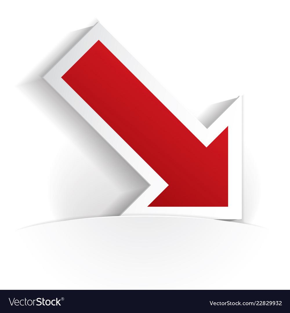 Arrow icon paper