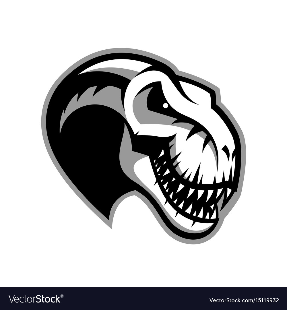 Dinosaur head sport club logo concept