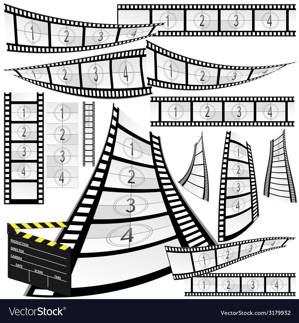 Film strip and movie clipper
