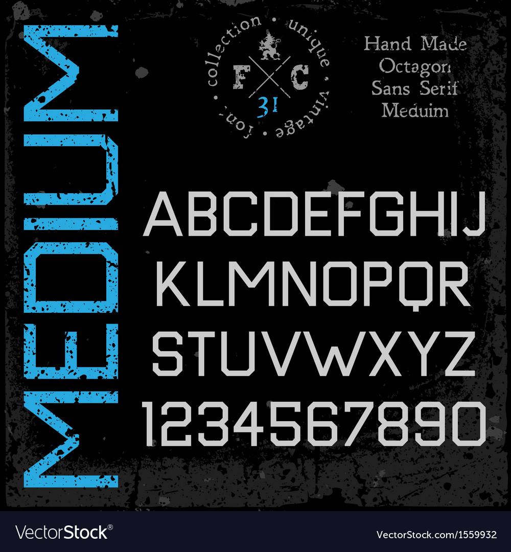 Handmade retro font Sans serif