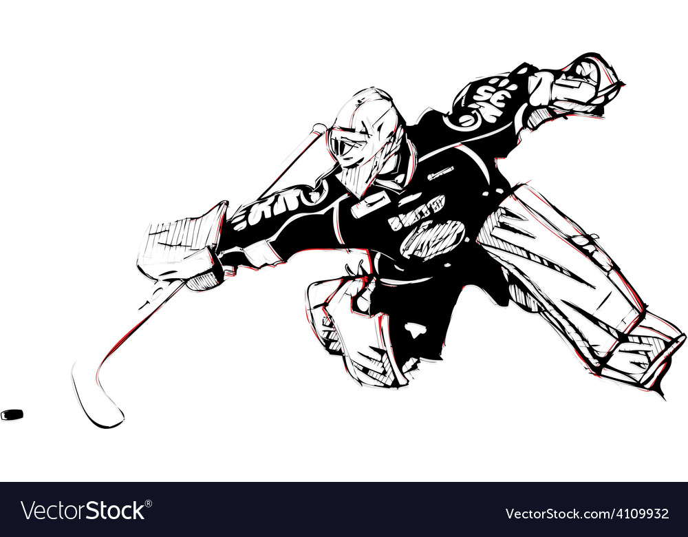 Ice Hockey Goalkeeper Royalty Free Vector Image