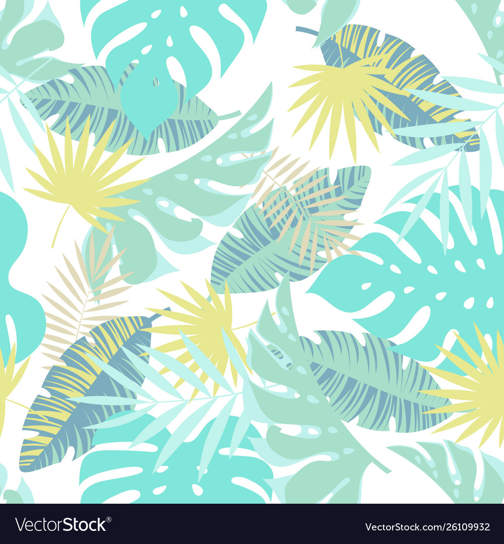 Jungle seamless tropical exotic pattern