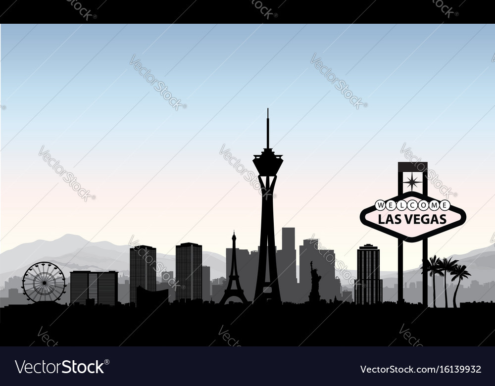 Las vegas skyline travel american city landmark