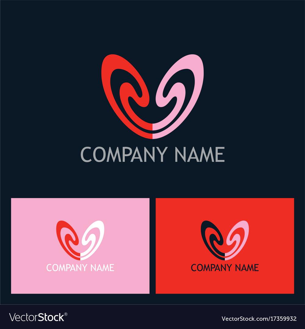 Love couple beauty logo