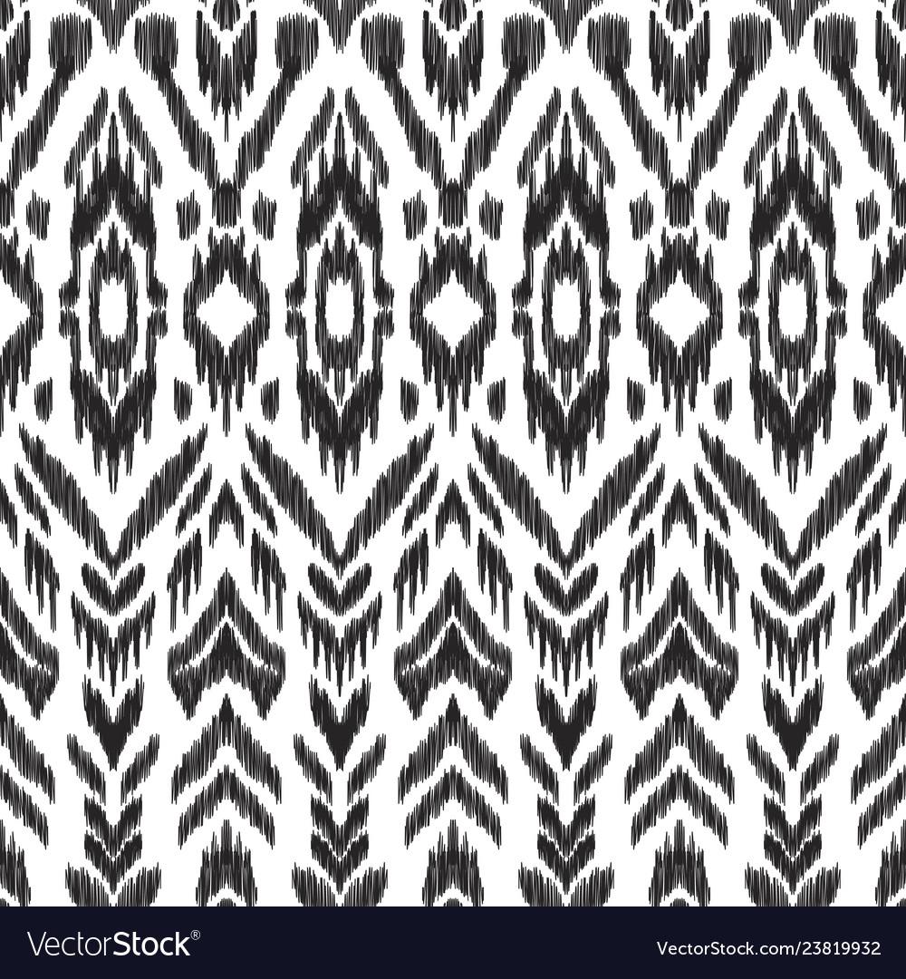 Seamless pattern ikat wallpaper
