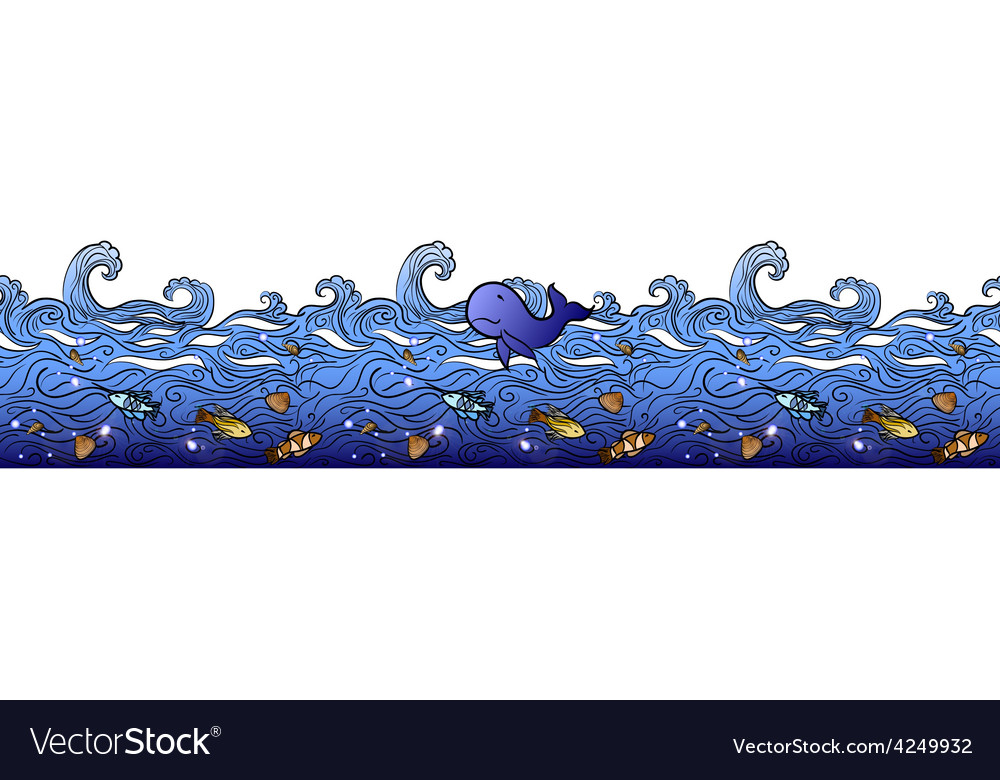 Seamless sea border