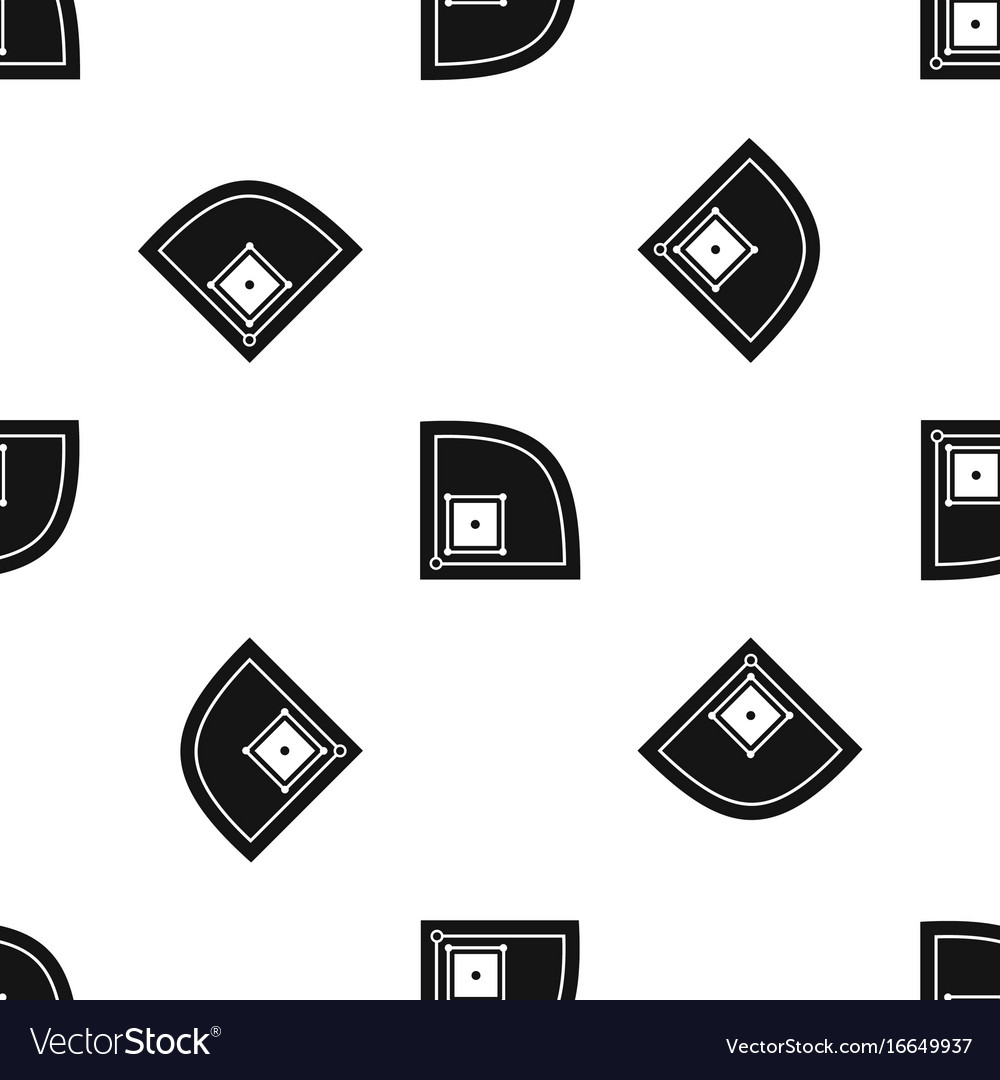 Baseball field pattern seamless black