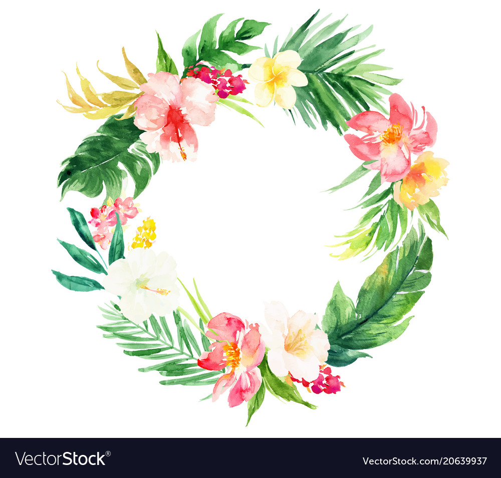 Isolated circle flowers plant wedding decorative vector image junglespirit Gallery