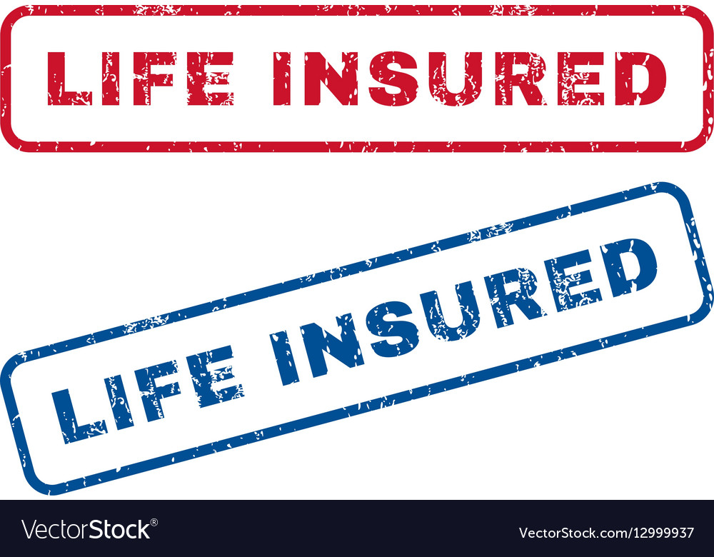 Life Insured Rubber Stamps