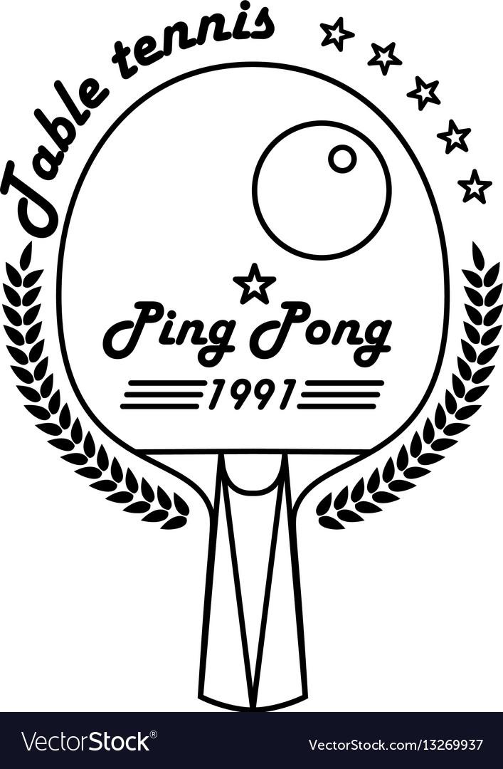 Logo league table tennis ping pong