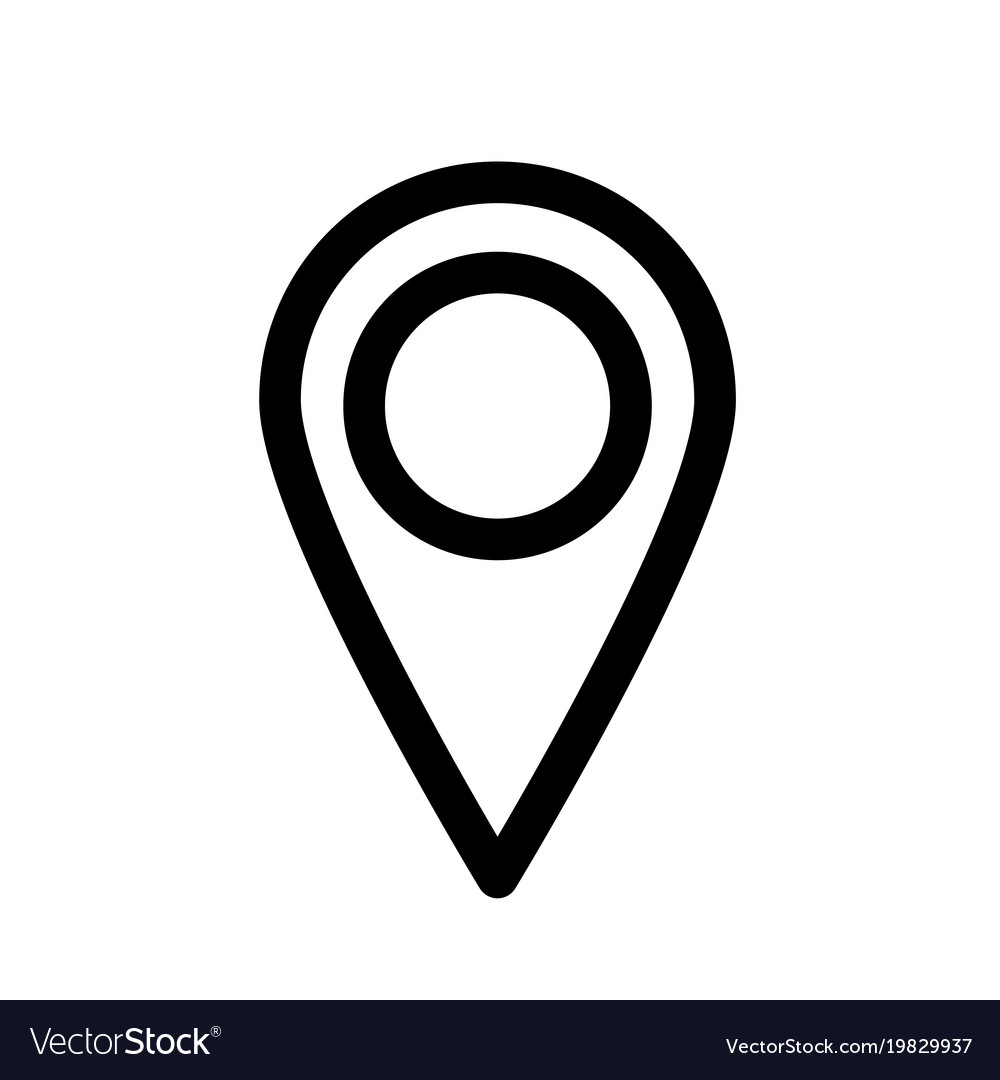 Map pointer or pin marker icon outline modern vector image
