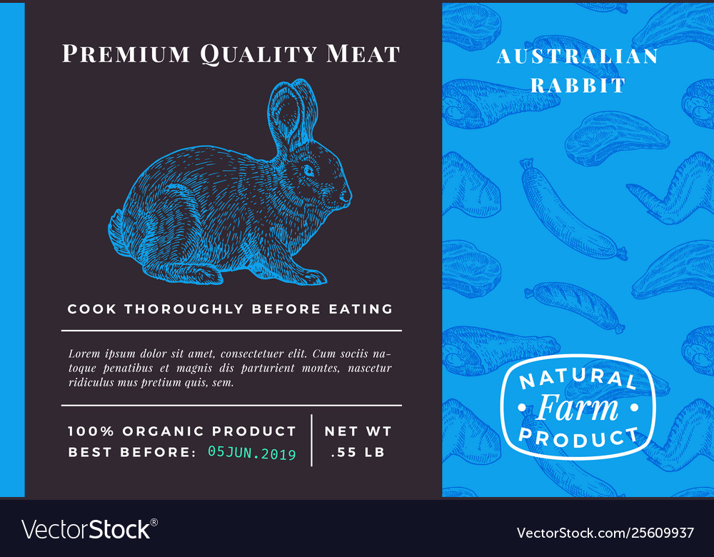 Premium quality meat abstract rabbit