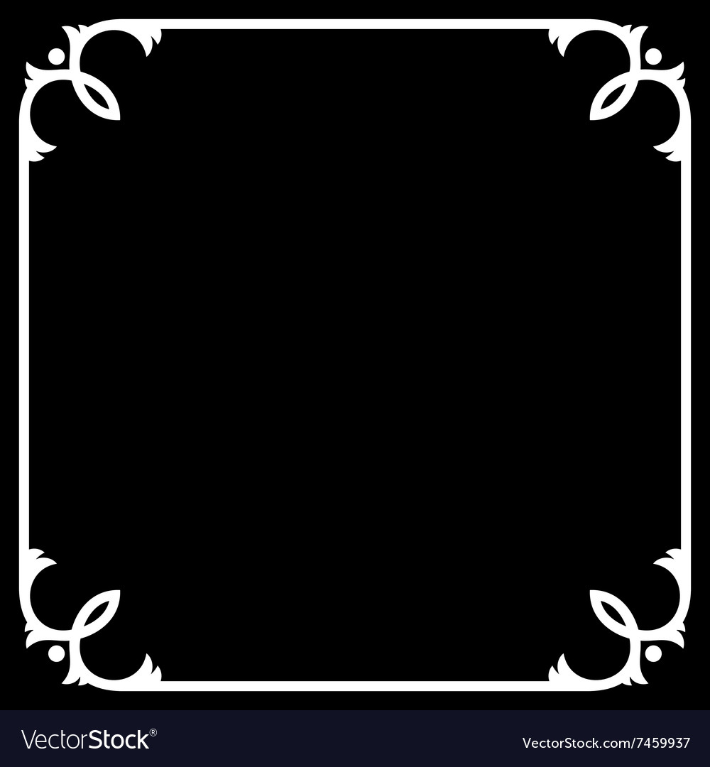 Silent Movie Black Frame with White Border