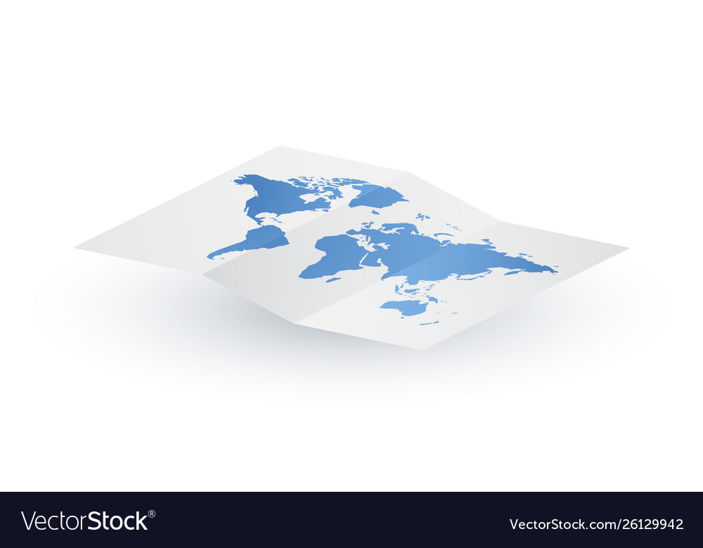 Abstract paper blank world map