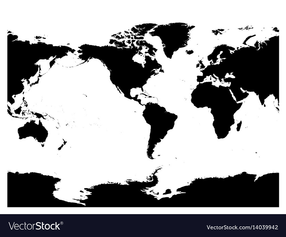 America centered world map high detail black vector image gumiabroncs Choice Image