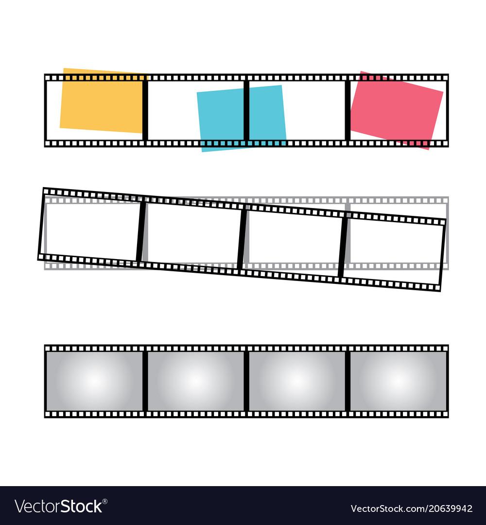 Blank film frame stock image of fram vector image