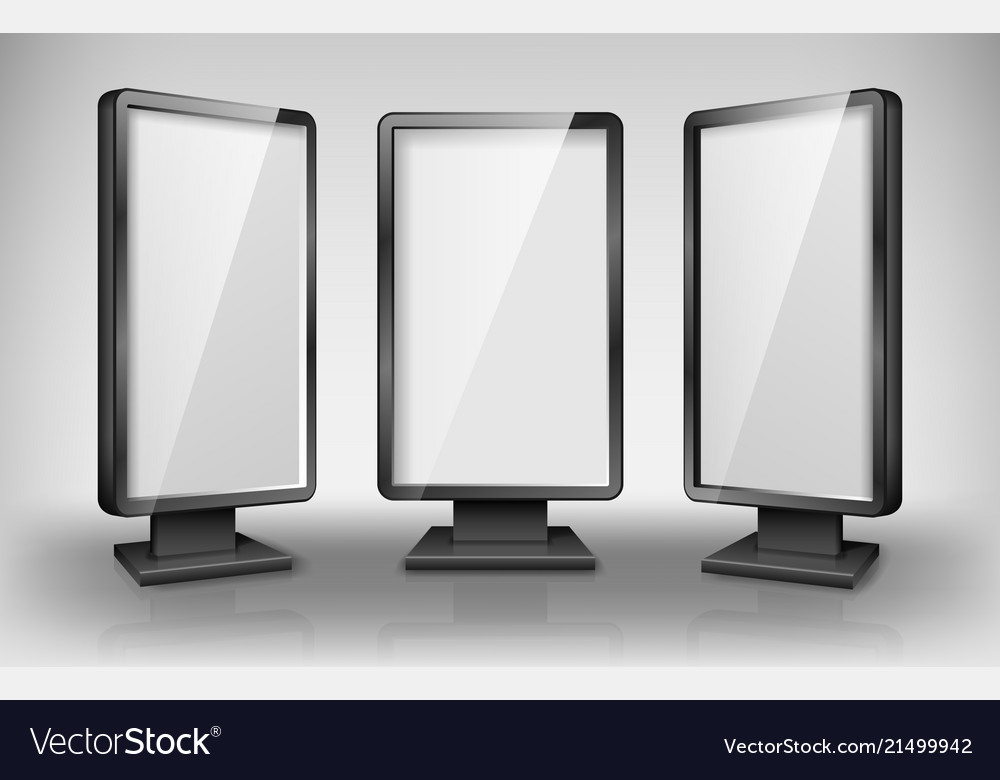 Blank lightbox template street 3d retail lighting
