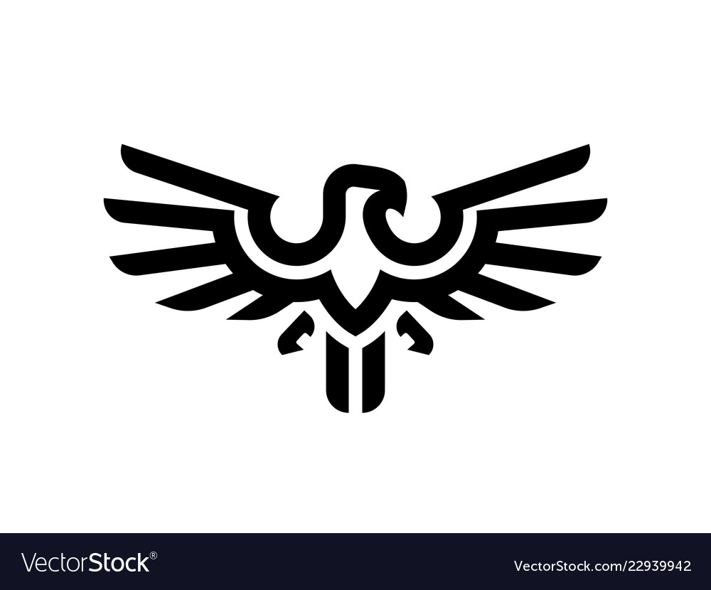 Eagle line logo design template