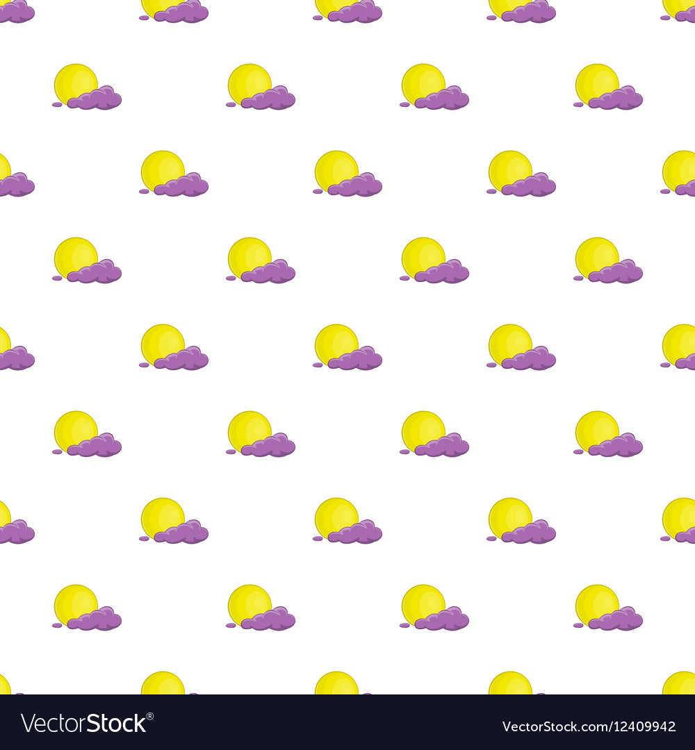Full moon and cloud pattern cartoon style