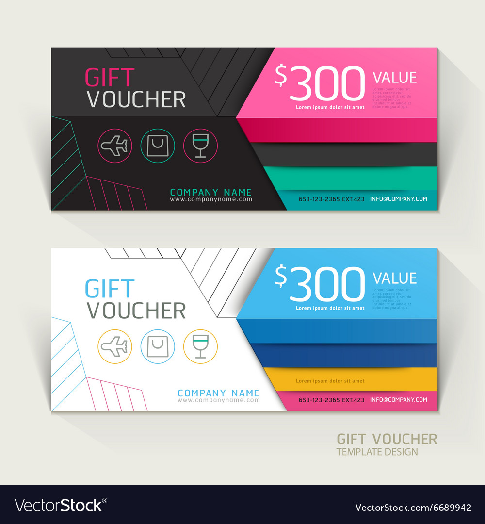 Gift voucher design template Royalty Free Vector Image
