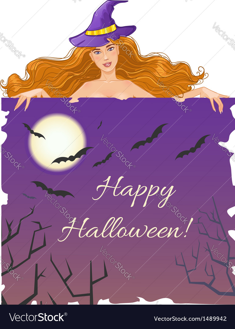 Halloween witch with message board