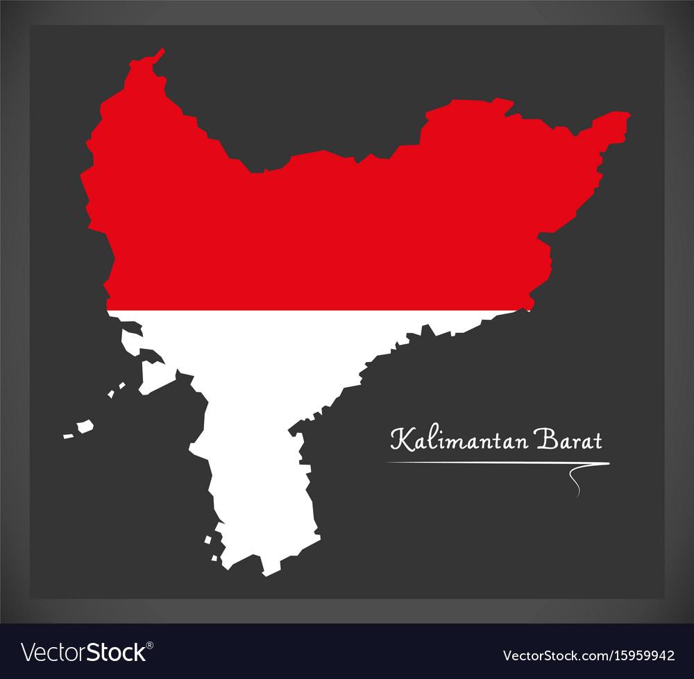 kalimantan barat indonesia map royalty free vector image vectorstock