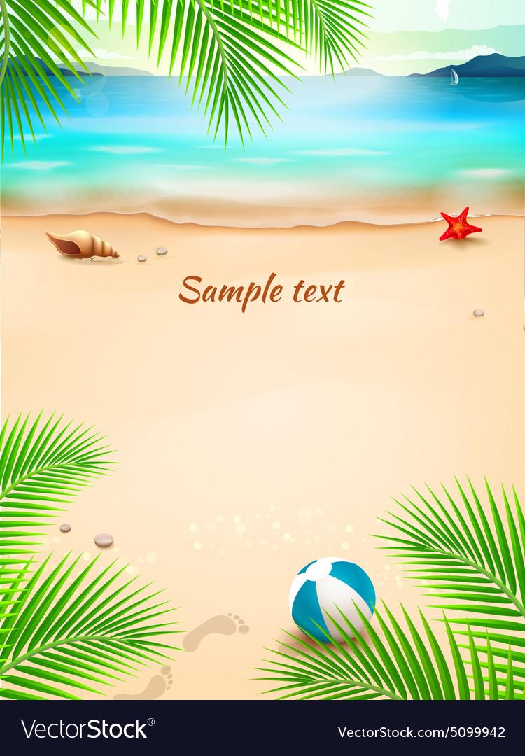 Summer beach background seascape sand wave